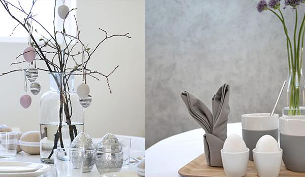 Inspiratie in paasdecoratie maak van uw eettafel een for Decoratie op eettafel