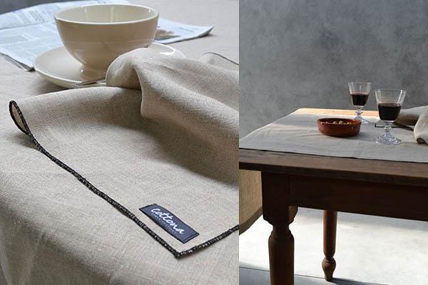 Natuurlijk linnen tafelloper servet Cottona