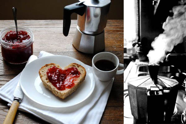 echte koffie ontbijt servet