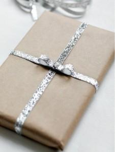 craft papier glitter lintje