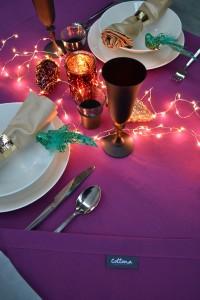 kerst tafellaken paars Cottona