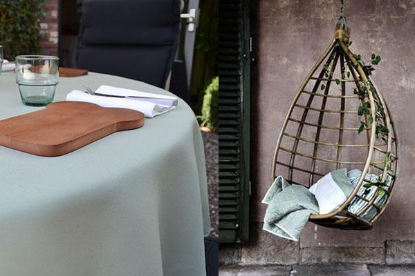 tuintafelkleed rond Cottona hangstoel Broste