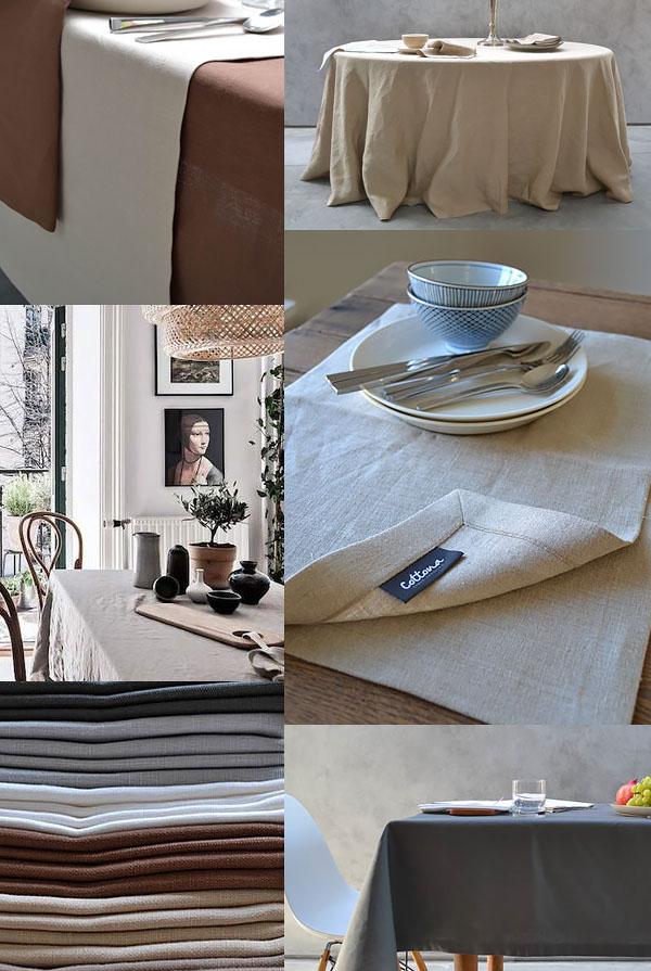 Tafellinnen: prachtig veelzijdig Foto's: Cottona en Pinterest