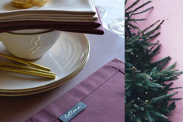 kersttafel-dekken-roze-paars